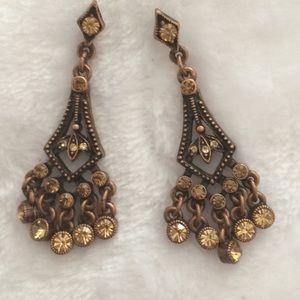 Bronze Colored Pierced Earrings